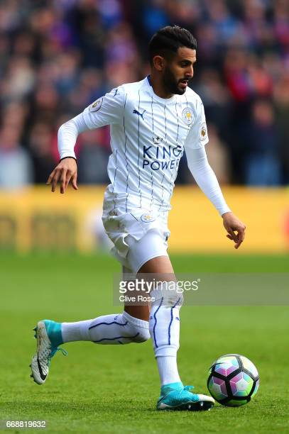 Riyad Mahrez of Leicester City in action during the Premier League match between Crystal Palace and Leicester City at Selhurst Park on April 15 2017...
