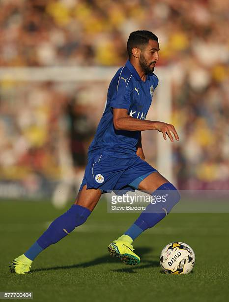 Riyad Mahrez of Leicester City in action during the preseason friendly between Oxford City and Leicester City at Kassam Stadium on July 19 2016 in...