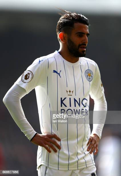 Riyad Mahrez of Leicester City looks on during the Premier League match between Crystal Palace and Leicester City at Selhurst Park on April 15 2017...