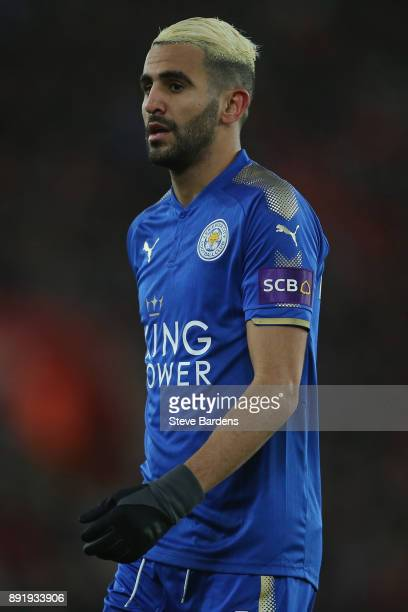 Riyad Mahrez of Leicester City looks on during the Premier League match between Southampton and Leicester City at St Mary's Stadium on December 13...