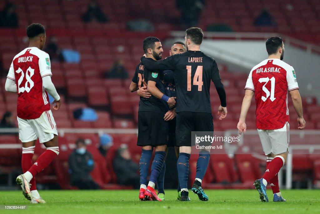 Arsenal v Manchester City - Carabao Cup Quarter Final : News Photo