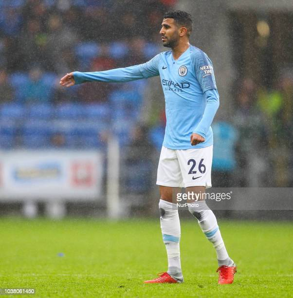 Riyad Mahrez of Manchester City during the Premier League match between Cardiff City and Manchester City at Cardiff City Stadium Cardiff England on...