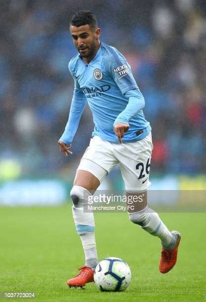 Riyad Mahrez of Manchester City runs with the ball during the Premier League match between Cardiff City and Manchester City at Cardiff City Stadium...