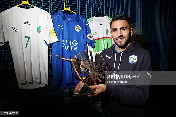 Riyad Mahrez Receives the African Footballer of the Year at Belvoir Drive Training Complex on December 12 2016 in Leicester United Kingdom