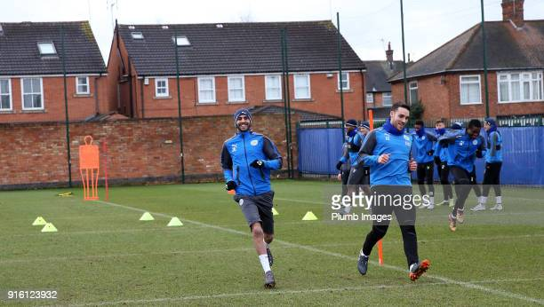 Riyad Mahrez returns to Leicester City training during the Leicester City training session at Belvoir Drive Training Complex on February 09 , 2018 in...