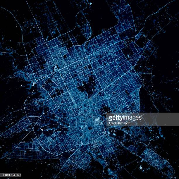 riyadh saudi arabia 3d render map blue top view may 2019 - frankramspott stock pictures, royalty-free photos & images