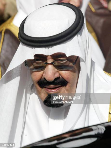 [FILES] Saudi King Abdullah attends the funeral of his halfbrother the late King Fahd at the Imam Turki bin Abdullah mosque in Riyadh 02 August 2005...
