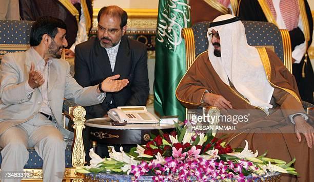 Saudi King Abdullah bin Abdul Aziz meets with Iranian President Mahmoud Ahmadinejad in Riyadh 03 March 2007 Ahmadinejad arrived in Saudi Arabia today...