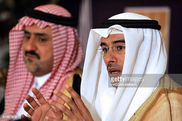 The chairman of Dubai's Holding and Emirates real estate company Emaar, Mohamed Ali Alabbar , and Saudi Prince Abdul Aziz bin Meshaal bin Abdul Aziz...