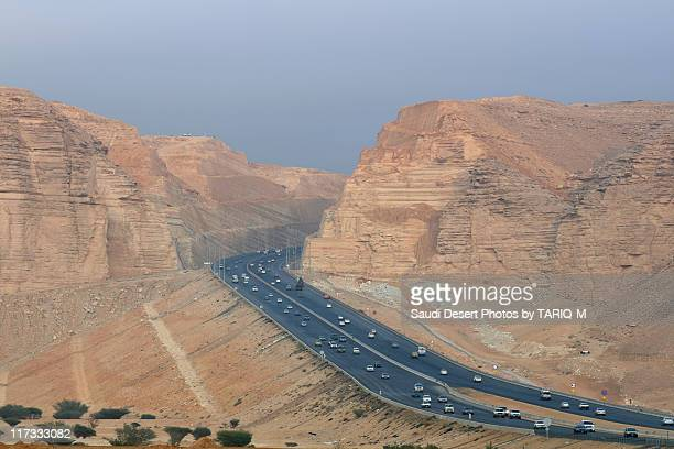 Riyadh to Makkah Road Through Tuwaiq Mountains