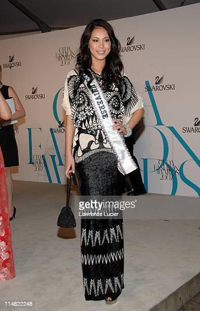 Riyo Mori Miss Universe 2007 during 2007 CFDA Fashion Awards Red Carpet at New York Public Library in New York City New York United States