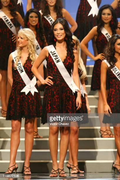 Riyo Mori Miss Universe Japan 2007 with Miss Universe 2007 delegates
