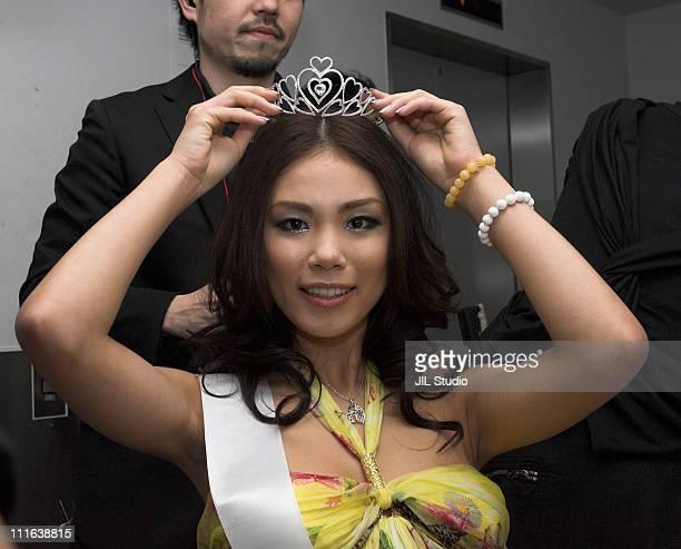 Riyo Mori Winner of 2007 Miss Universe Japan during Miss Universe Japan 2007 CASINO FINALE Presented by Samantha Thavasa Backstage at Tokyo...