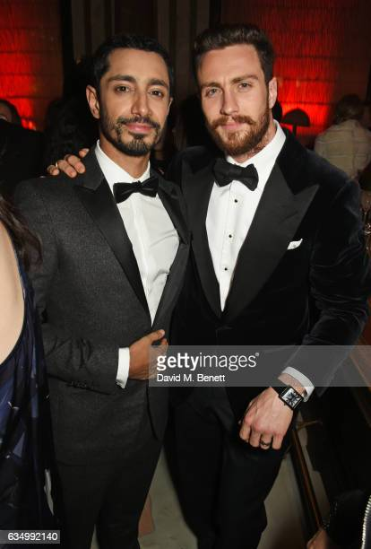 Riz Ahmed and Aaron TaylorJohnson attend The Weinstein Company Entertainment Film Distributors Studiocanal 2017 BAFTA After Party in partnership with...