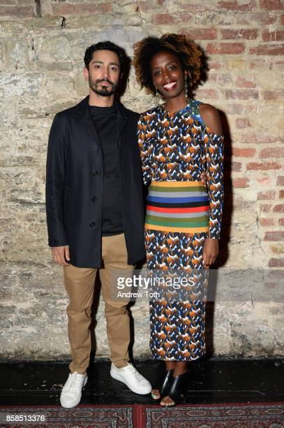 Riz Ahmed and Alexis Okeowo attend The 2017 New Yorker Festival at Gramercy Theatre on October 6, 2017 in New York City.