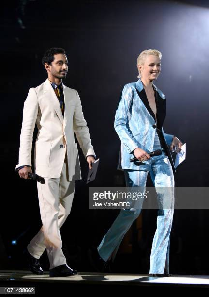 Riz Ahmed and Edie Campbell present Accessories Designer Of The Year award during The Fashion Awards 2018 In Partnership With Swarovski at Royal...