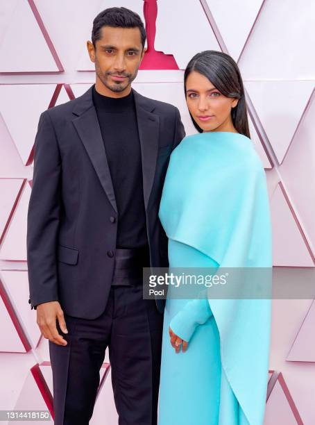 Riz Ahmed and Fatima Farheen Mirza attend the 93rd Annual Academy Awards at Union Station on April 25, 2021 in Los Angeles, California.