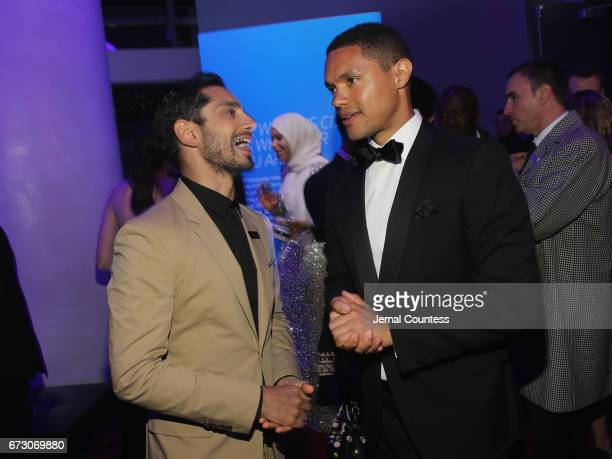Riz Ahmed and Trevor Noah attend the 2017 Time 100 Gala at Jazz at Lincoln Center on April 25 2017 in New York City