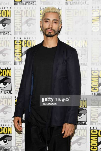 """Riz Ahmed attends Sony's """"Venom"""" and """"Spider-Man: Into The Spider-Verse"""" Press Lines during Comic-Con International 2018 at Hilton Bayfront on July..."""