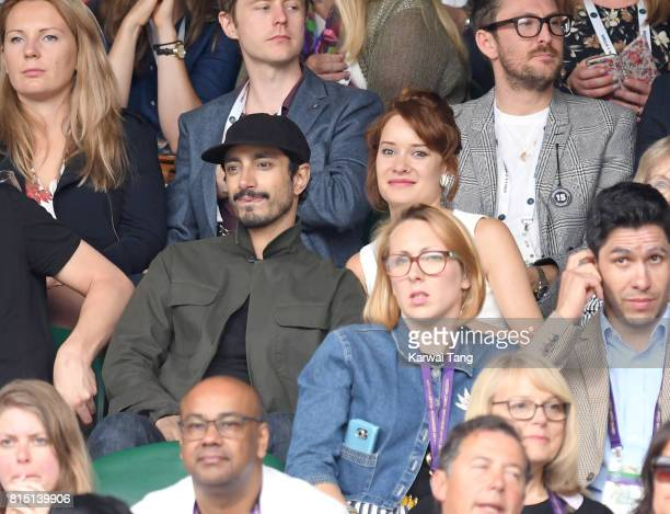 Riz Ahmed attends the Women's Singles Final during the Wimbledon Tennis Championships at the All England Lawn Tennis and Croquet Club on July 15 2017...