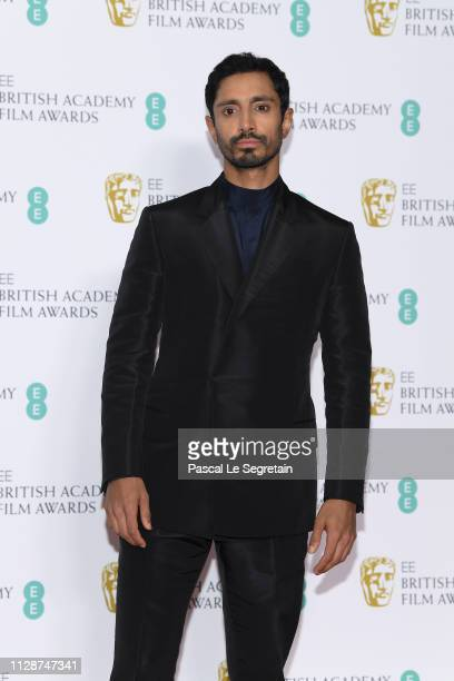Riz Ahmed in the press room during the EE British Academy Film Awards at Royal Albert Hall on February 10 2019 in London England