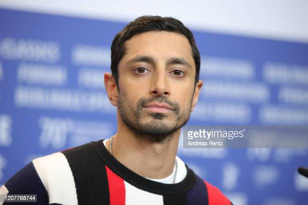 """Riz Ahmed is seen at the """"Mogul Mowgli"""" press conference during the 70th Berlinale International Film Festival Berlin at Grand Hyatt Hotel on..."""
