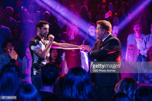 Riz Ahmed performs Drop The Mic with James Corden during The Late Late Show with James Corden Monday April 17 2017 On The CBS Television Network