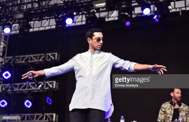 Riz MC of the Swet Shop Boys performs at the Mojave Tent during day 2 of the Coachella Valley Music And Arts Festival at the Empire Polo Club on...