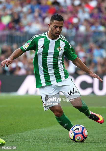 Riza Durmisi during La Liga match between FC Barcelona v Betis in Barcelona on August 20 2016