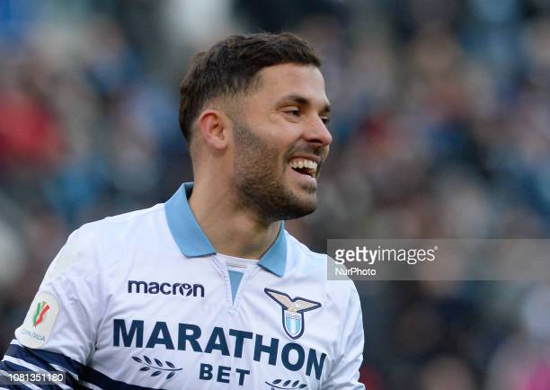 Riza Durmisi during the Italian Cup football match between SS Lazio and Novara at the Olympic Stadium in Rome on January 12 2019