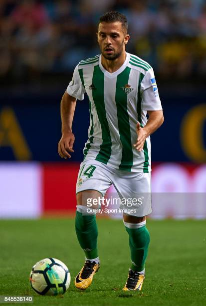 Riza Durmisi of Betis in action during the La Liga match between Villarreal CF and Real Betis at Estadio de la Ceramica on September 10 2017 in...
