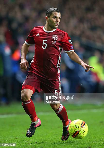 Riza Durmisi of Denmark during the UEFA EURO 2016 Qualifier PlayOff Second Leg match between Denmark and Sweden at Parken Stadium on November 17 2015...