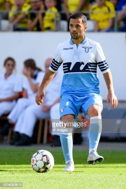 Riza Durmisi of Lazio Rom controls the ball during the friendly match between Borussia Dortmund and Lazio Rom on August 12 2018 in Essen Germany