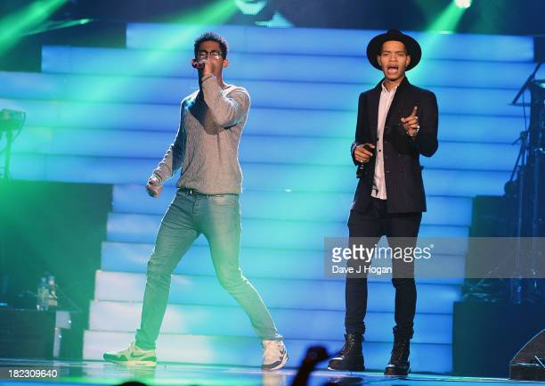 Rizzle Kicks performs at Unity A Concert For Stephen Lawrence in aid of The Stephen Lawrence Charitable Trust at the O2 Arena on September 29 2013 in...