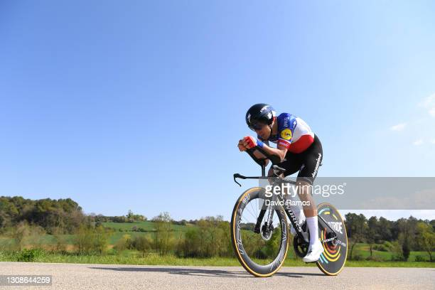 Rémi Cavagna of France and Team Deceuninck - Quick-Step during the 100th Volta Ciclista a Catalunya 2021, Stage 2 a 18,5km Individual Time Trial...