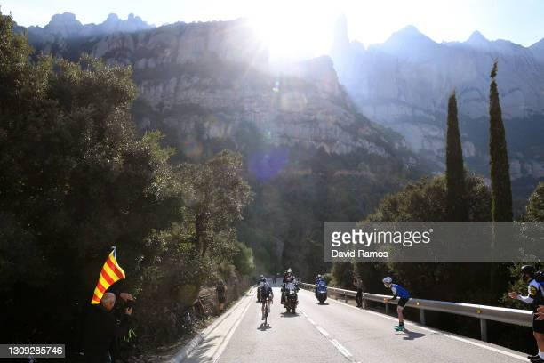 Rémi Cavagna of France and Team Deceuninck - Quick-Step during the 100th Volta Ciclista a Catalunya 2021, Stage 5 a 201,5km stage from La Pobla De...