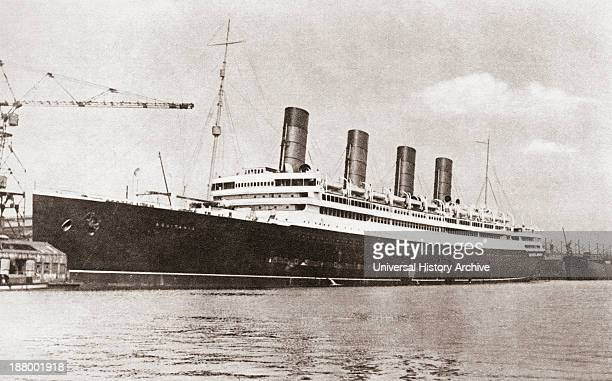 Rms Aquitania Cunard Line Ocean Liner In 1913 From The Story Of Seventy Momentous Years Published By Odhams Press 1937