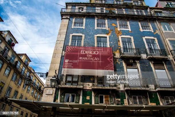 Rénovation d'immeubles anciens le 30 mars 2017 Lisbonne Portugal