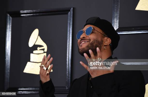 Ro James arrives for the 59th Grammy Awards pretelecast on February 12 in Los Angeles California / AFP PHOTO / Mark RALSTON
