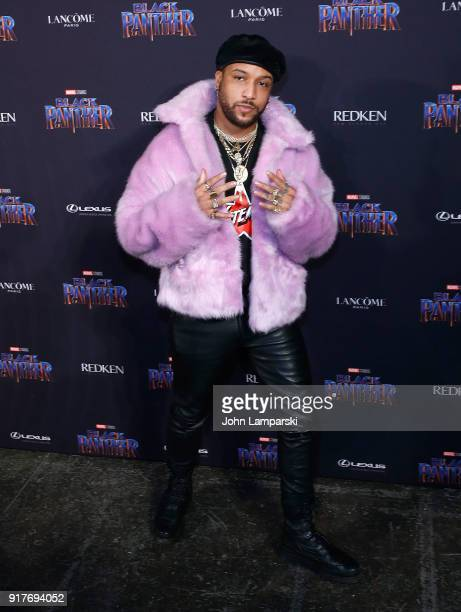 Ro James attends Marvel Studios Presents Black Panther Welcome To Wakanda during February 2018 New York Fashion Week The Shows at Industria Studios...