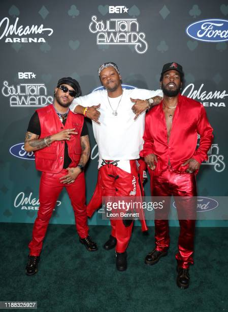 Ro James BJ The Chicago Kid and Luke James attend the 2019 Soul Train Awards presented by BET at the Orleans Arena on November 17 2019 in Las Vegas...