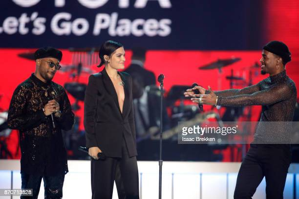 Ro James Jessie J and Luke James perform onstage at the 2017 Soul Train Awards presented by BET at the Orleans Arena on November 5 2017 in Las Vegas...