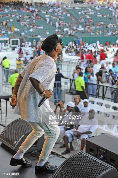 Ro James performs during the 2017 Cincinnati Music Festival at Paul Brown Stadium on July 29 2017 in Cincinnati Ohio