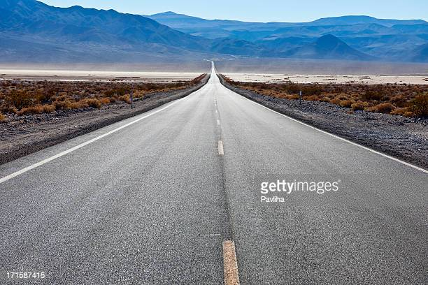 Road 190 in Panamint Valley, California USA