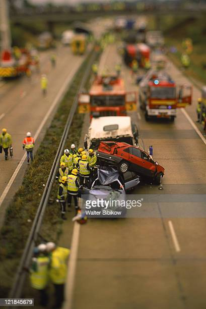 road accident, england - traffic accident stock photos and pictures