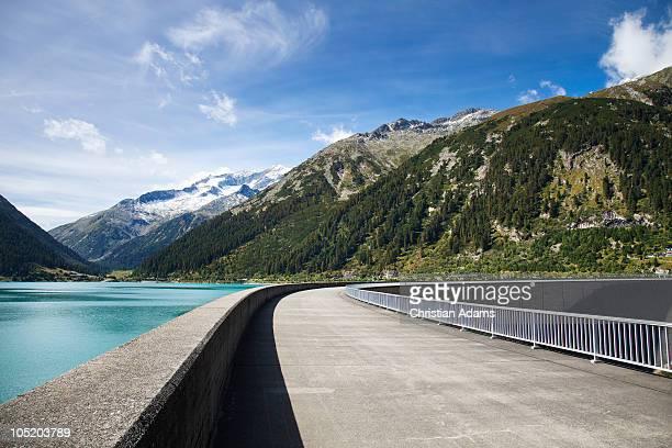 Road across dam
