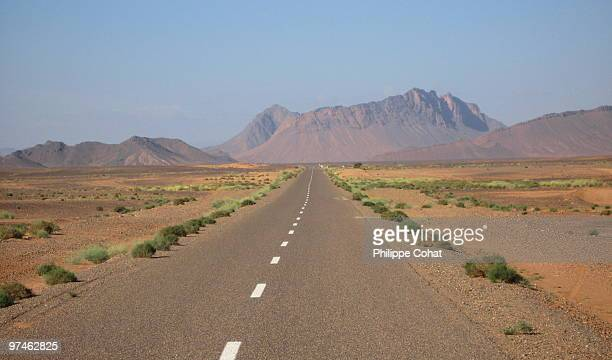 Road across desert, Morocco.