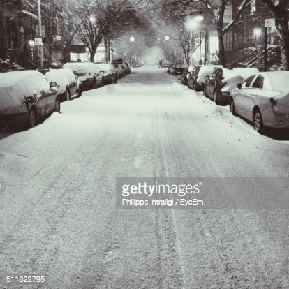 Road after snow storm