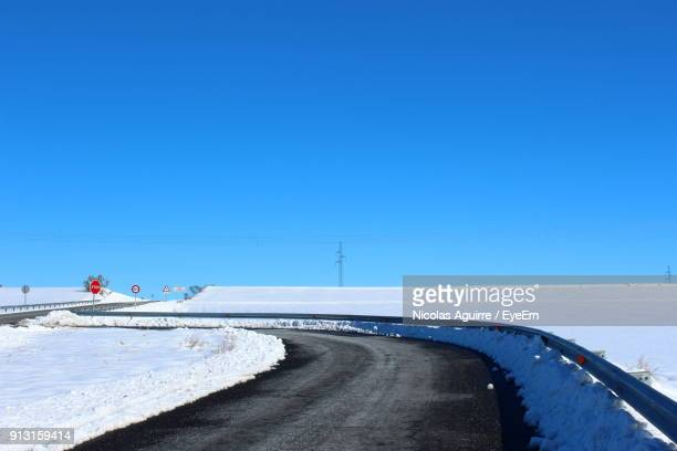 Road Against Clear Blue Sky