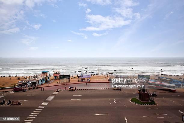 Road along the beach Visakhapatnam Andhra Pradesh India